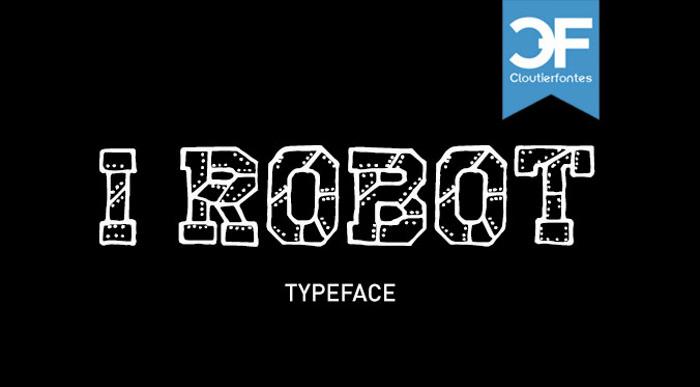 CF I Robot Font poster