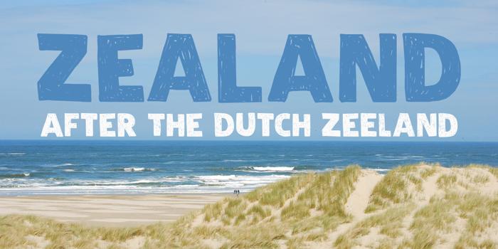 DK Zealand Font poster