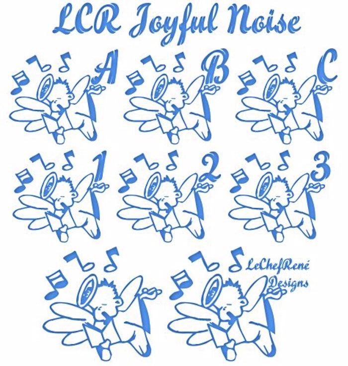 LCR Joyful Noise Font poster