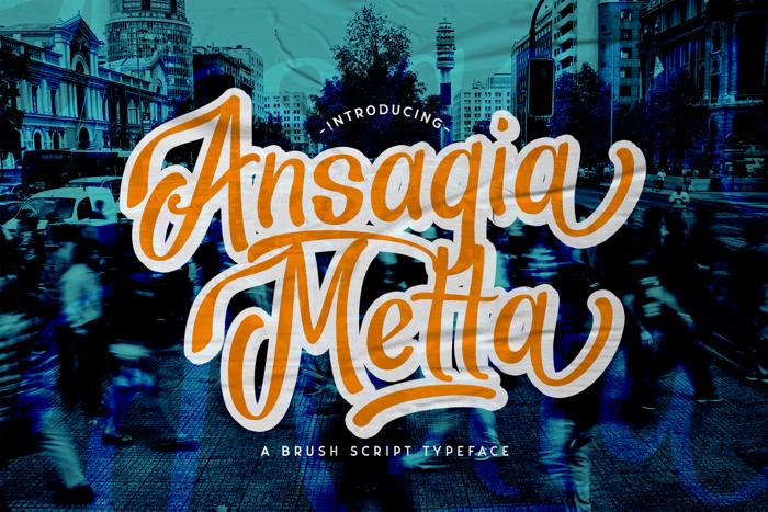 Ansagia Metta Font poster