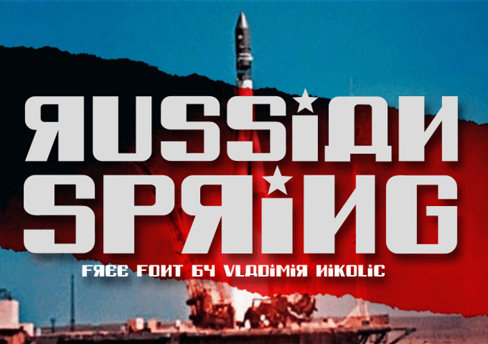Russian Spring Font poster