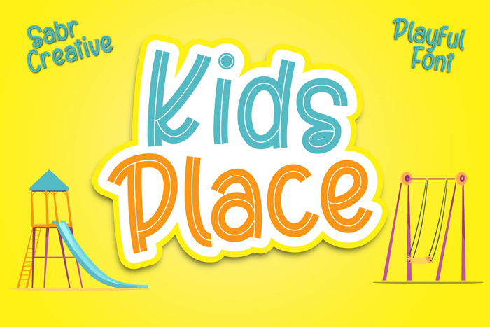 Kids Place Font poster