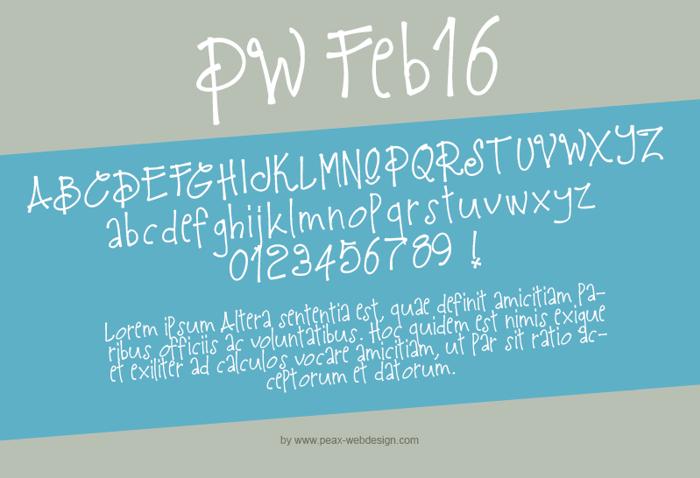 PWFeb16 Font poster