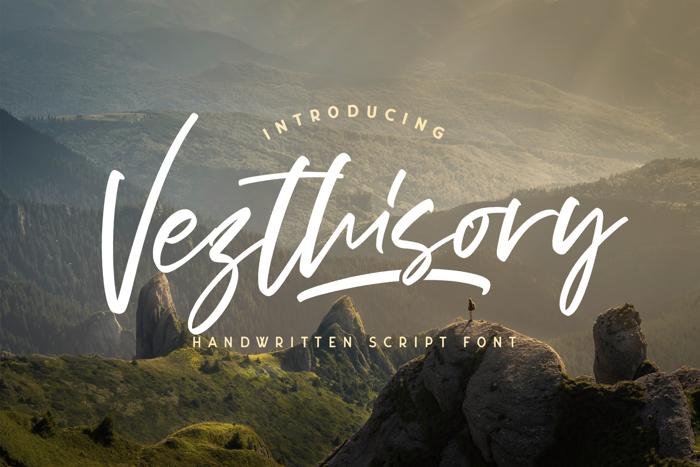 Vezthisory Font poster