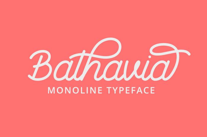 Bathavia Font poster