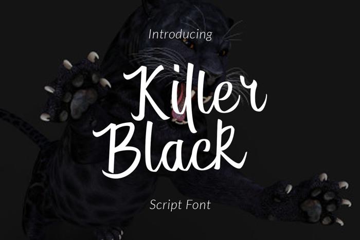 Killer Black Font poster