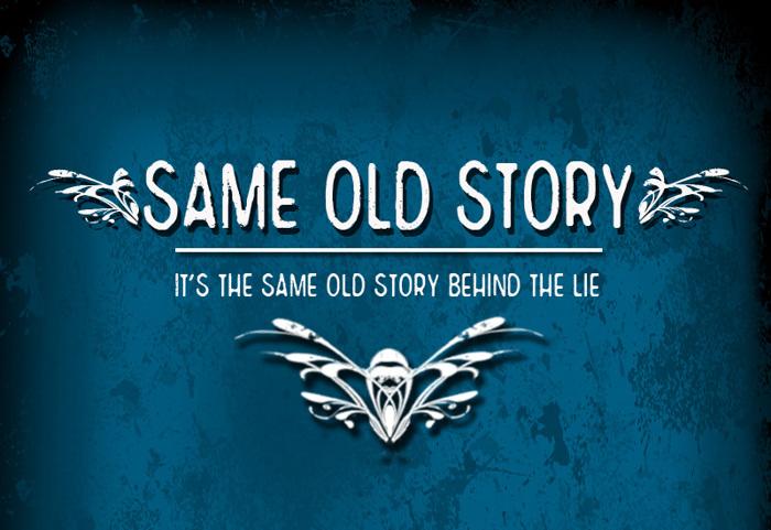 CF Same Old Story Font poster