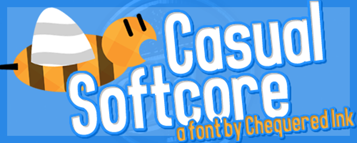 Casual Softcore Font poster
