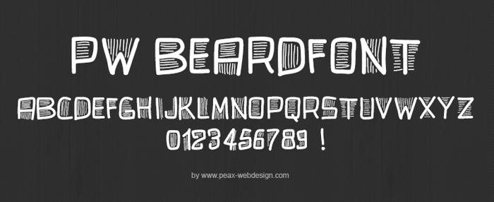 PWBeardfont Font poster