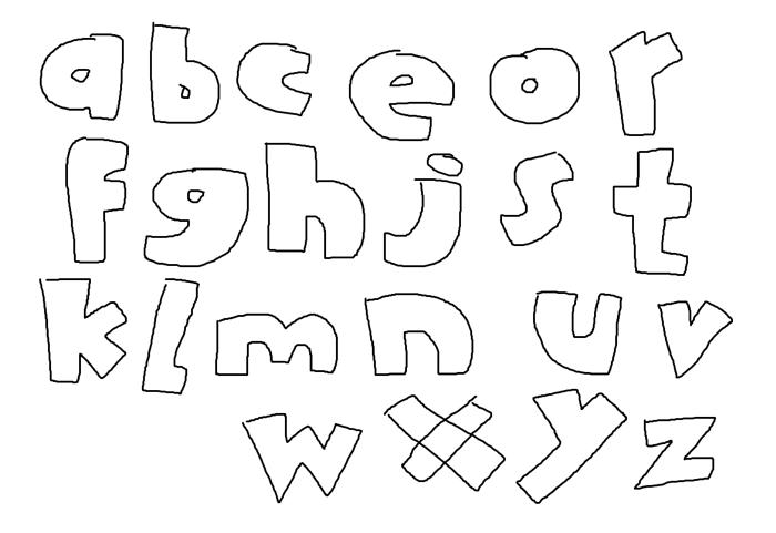 Rodfellows Wacky Font poster