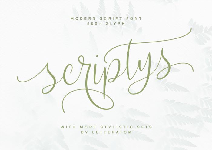 Scriptys Font