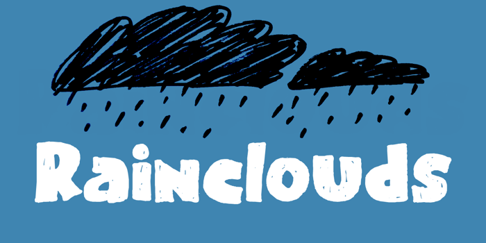 Rainclouds DEMO Font poster