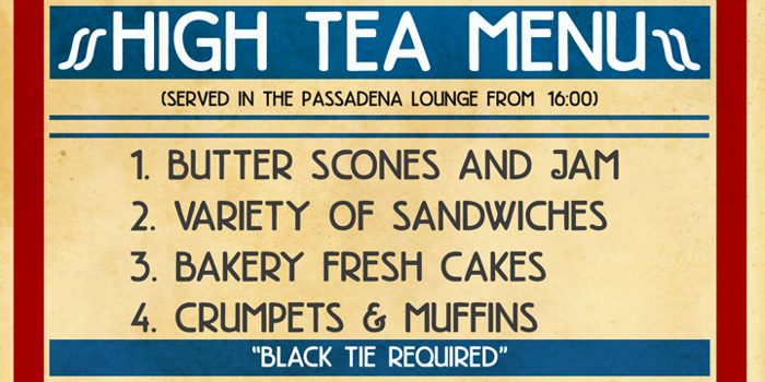 DK High Tea Font poster