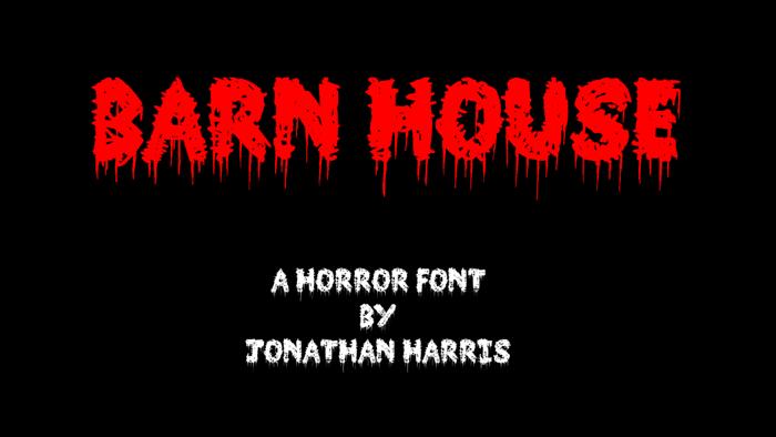 Barn House Font poster