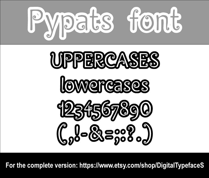 Pypats Font poster