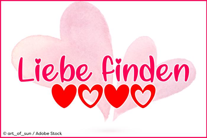 Liebe finden Font poster