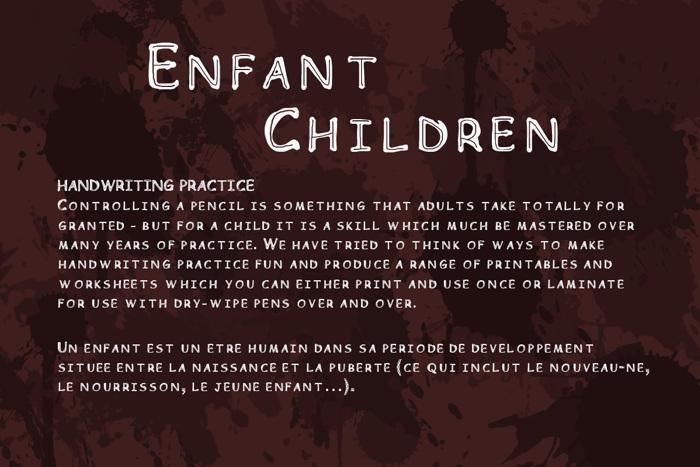 Children Font poster