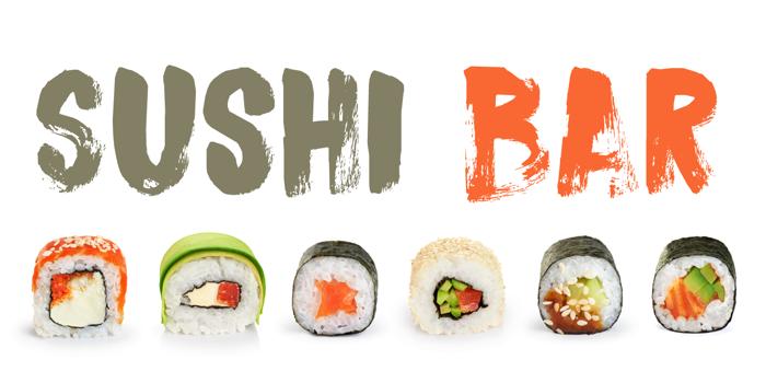DK Sushi Bar Font poster