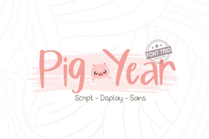 Pig Year Display Font poster