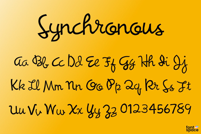 Synchronous Font poster