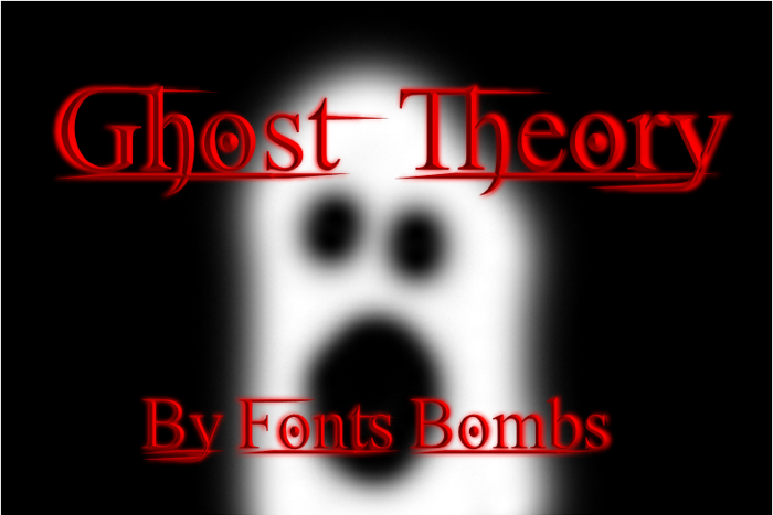 Ghost Theory Font poster