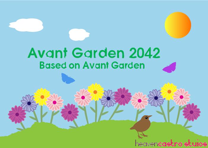 Avant Garden 2042 Font poster