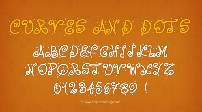 PWCurvesAndDots Font poster