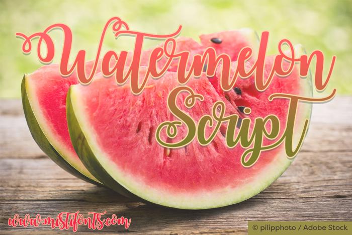 Watermelon Script Font