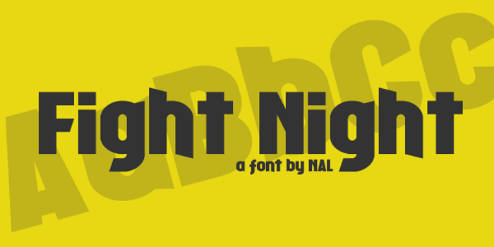 Fight Night Font