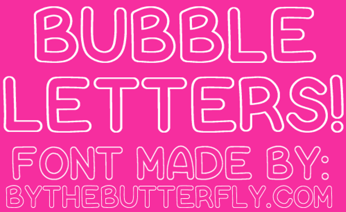 Bubble Letters Font poster