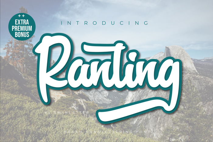 Ranting Font poster