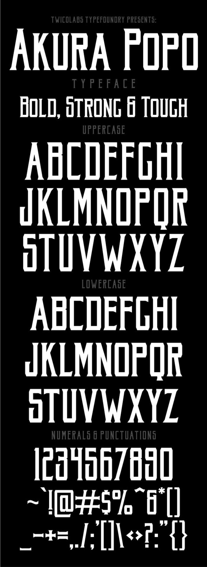 Akura Popo Font poster