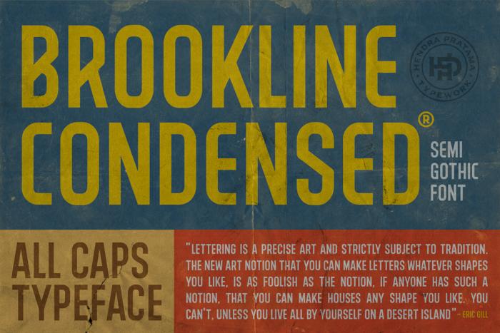 BROOKLINE Font poster
