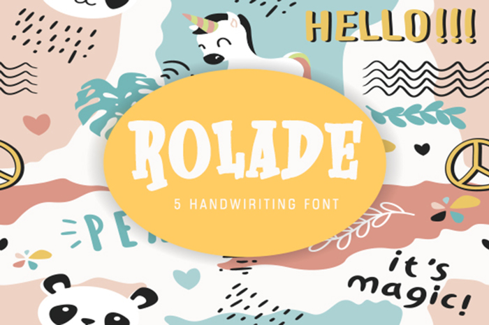 Rolade Font poster
