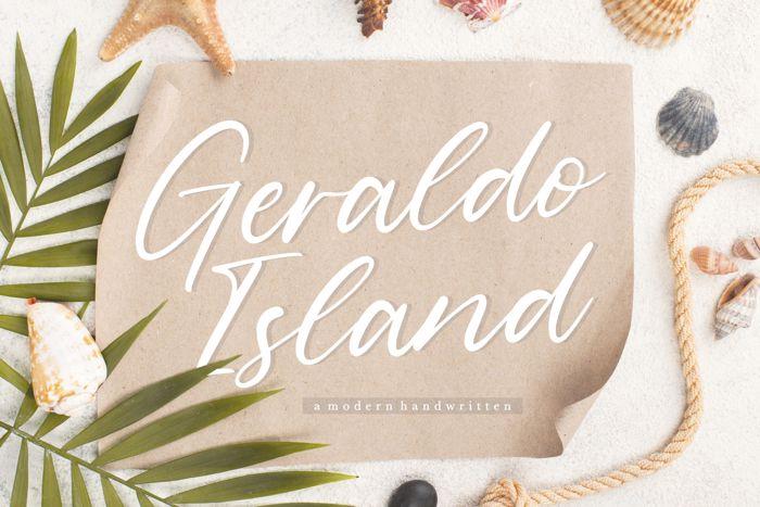 Geraldo Island Font poster