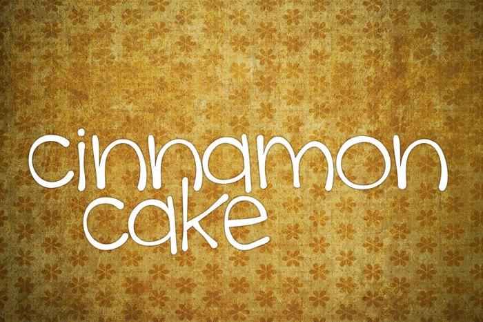 cinnamon cake Font poster