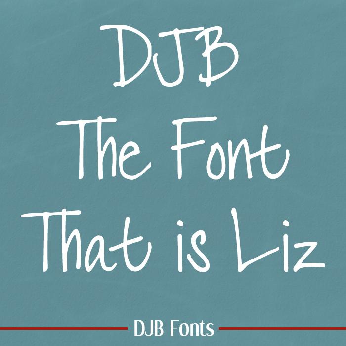 DJB LIZ Font poster