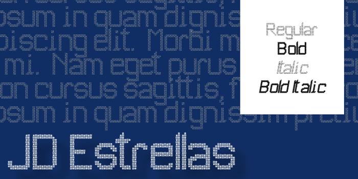 JD Estrellas Font poster