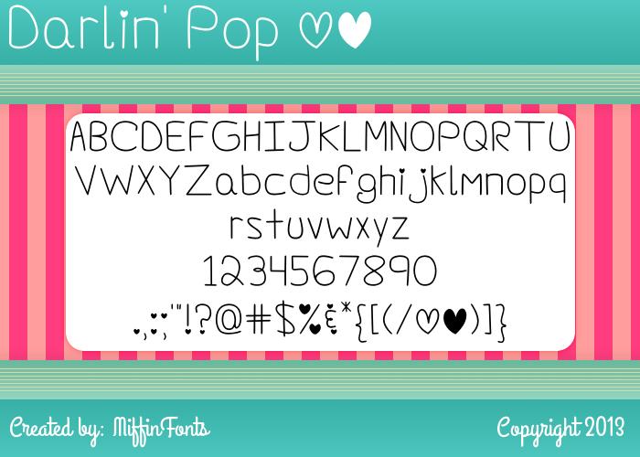 Darlin' Pop Font poster
