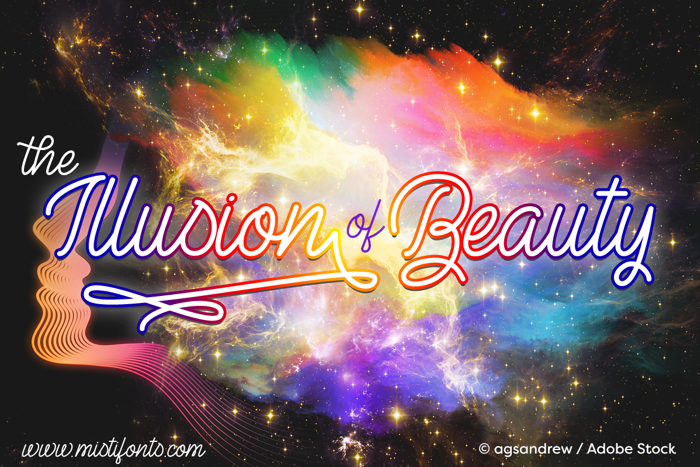 The Illusion of Beauty Font poster