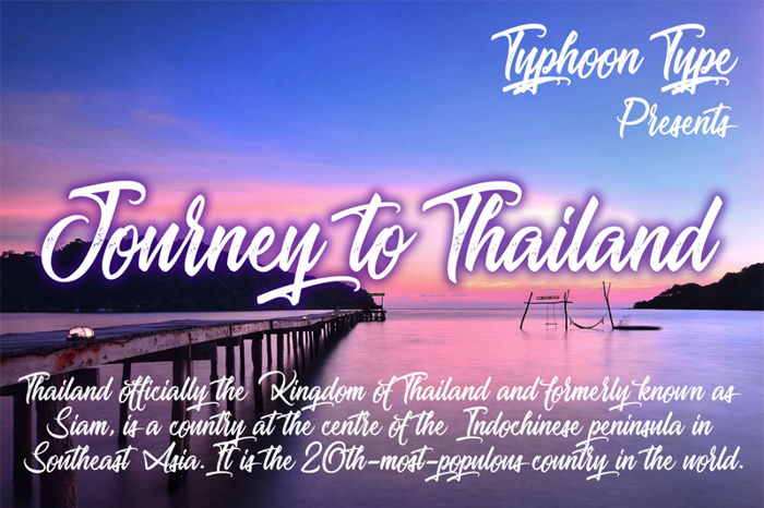 Journey to Thailand Font poster