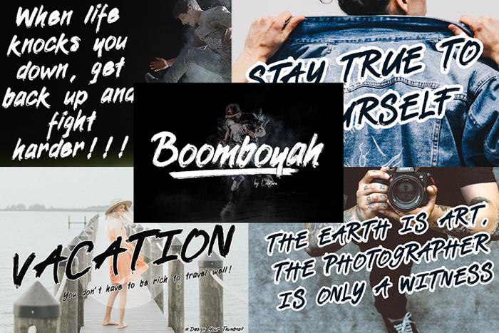 Boomboyah Font poster