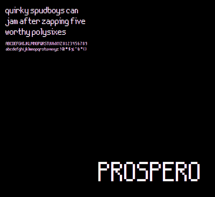 Prospero NBP Font poster