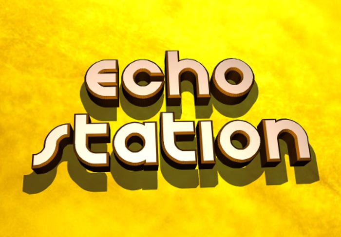 Echo Station Font poster