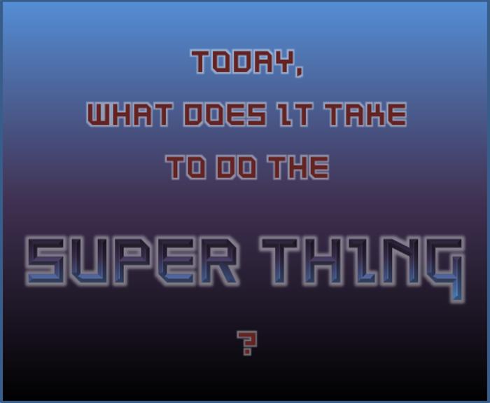SuperThing NBP Font poster