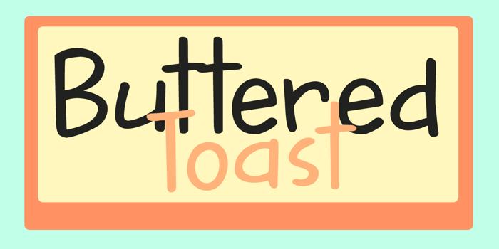 DK Buttered Toast Font poster