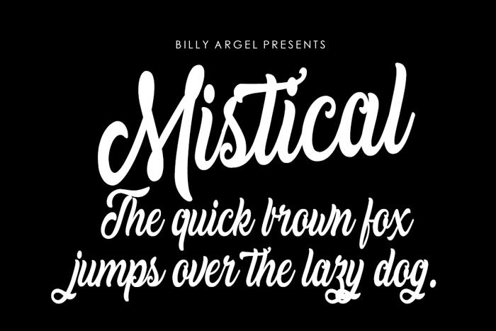 Mistical Font poster