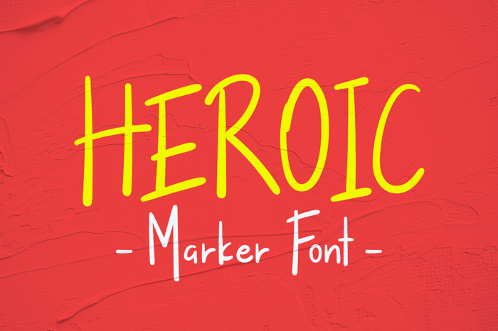 Heroic Font poster