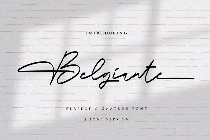 Belgiante Font poster
