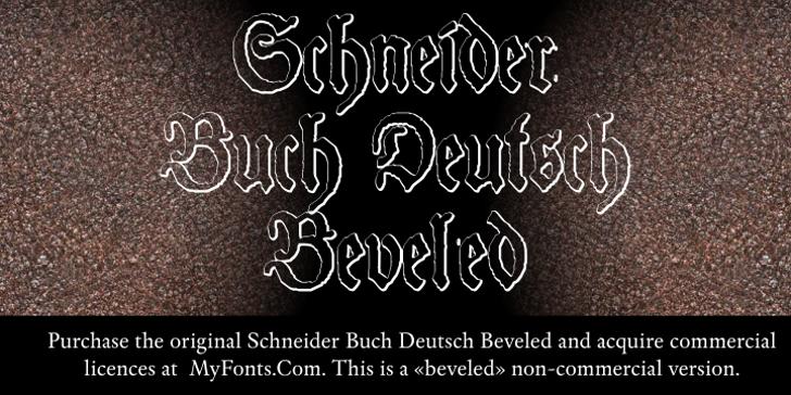 Schneider Buch Deutsch Beveled  Font text handwriting